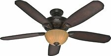 "HUNTER 56"" Markley ""Onyx Bengal"" Ceiling Fan w/ Light & 5 Blades - Model 53255"