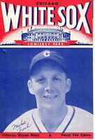 1946 Baseball program, Detroit Tigers @ Chicago White Sox, unscored ~ Mike Tresh