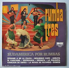 RUMBA TRES: Sudamerica Por Rumbas LP Record BELTER Latin