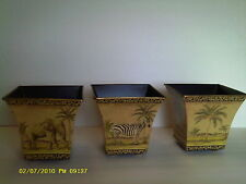 Sarfari Pot set with elephant, Zebra and Jungle