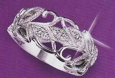 Avon .925 Sterling Silver Genuine Diamond Leaf Accent Ring - 5 6 7 8 9 8
