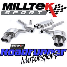 Milltek Ford Mustang 2.3 EcoBoost Exhaust System Cat Back Resonate Quad Titanium