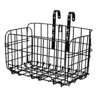 Folding Metal Wire Basket Front Bicycle Bike Storage Carrier Holder Rear Hanging