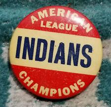 original 1948 pinback button, Cleveland Indians AL champions $65