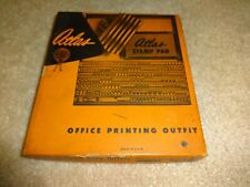 Atlas Rubber Type Office Printing Outfit Vintage