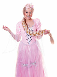 Long Braided Wig Blonde Adult Ladies Fairytale Rapunzel Fancy Dress Costume Acce