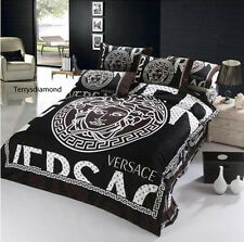 Versace Medusa Luxurious 4pcs LARGE Queen 100% Cotton bedding set