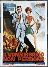 IL COMMISSARIO NON PERDONA MANIFESTO CINEMA FILM POLIZIESCO 1966 MOVIE POSTER 4F