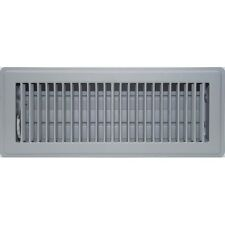 Grey Metal Ducted Metal Heating Louvered Floor Vent Register 100x300