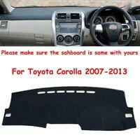 Custom Dashmat For Toyota Corolla 2007-2013 Dashboard Mat Pad Dash Cover Durable