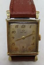 1948 GOLD FILLED OMEGA 17 JEWELED WRIST WATCH WORKING CAL300