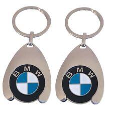 2x Original BMW Schlüsselanhänger mit Einkaufswagenchip Keyring Chip 80272446749