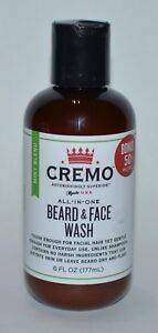 NEW CREMO ALL IN ONE BEARD FACE WASH 6 FL OZ MINT BLEND GENTLE FACIAL HAIR