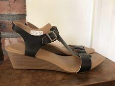 Timberland Leather Wedge sandals size UK7, EU40, US9W Black
