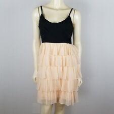 Romeo & Juliet Couture Spaghetti strap tiered ruffled empire waist dress sz M