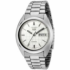 Seiko 5 SNXF05 Automatic 21 Jewels White Dial Stainless Steel Men Watch SNXF05K1
