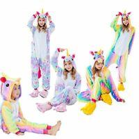 enfants en pyjama cosplay costume rainbow pyjama licorne de vêtements de nuit