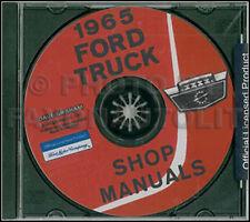 1965 Ford Pickup and Truck Shop Manual on CD F100 F250 F350 F00-F1100 Repair 65