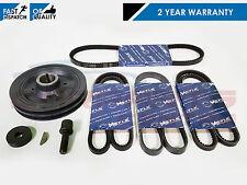 FOR Mitsubishi L200 2.5 Turbo Diesel Engine crank shaft pulley belts kit 01-07