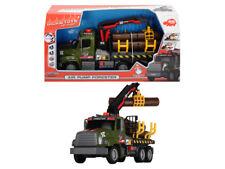Dickie 203806001 - Fahrzeug - Freightliner Truck Mit Kran & Holz (Ca. 30cm) -Neu