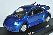 VW Volkswagen New Beetle RSI Coupe Blau 1997-2010 1/24 Bburago Modell Auto mit..