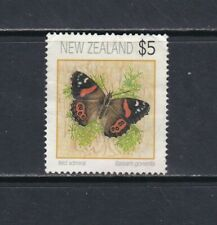 New Zealand 1991 $5 Butterfly Used
