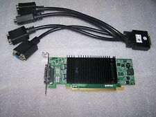 Matrox p690 Plus 256mb LP PCIe x16 Quad Monitore Grafikkarte + Kabel, Win 7/8