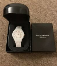 Brand New Emporio Armani Watch Ladies White , Chronograph Ceramica AR1417