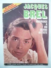"""Magazine """"Album souvenir Jacques BREL""""  - supplément télé POCHE n° 661 - 1978"""