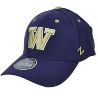 NCAA Zephyr Washington Huskies Flex Fit Youth Kids Purple Hat Cap Curved Bill