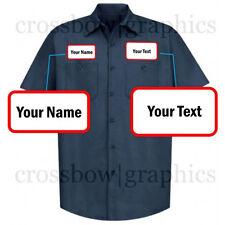 DICKIES Mens CUSTOM Short Sleeve Work Shirt Classic Workwear Uniform Personalize