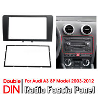 2 DIN Car Radio Fascia Dash Panel Plate Adapter For Audi A3 8P Model 2003-2012