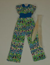 Vintage Barbie Best Buy #9618 BLUE JUMPSUIT w/ HTF White SCARF