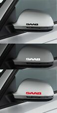 For SAAB - 2 x wing mirror -  CAR DECAL STICKER ADHESIVE  - 9-3  900 100mm long