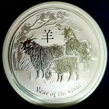 """2015 1 Oz .999!!! Silver """"Lunar Year of The Goat"""" BU Australian Perth Mint!!!"""