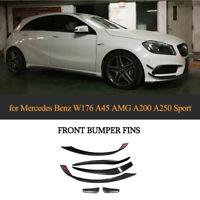 CARBONSplitter für Mercedes W176 A250 A45AMG Frontstoßstange Flap Canard Spoiler