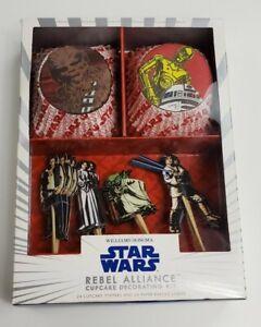 Williams-Sonoma 24 pcs. STAR WARS Rebel Alliance Cupcake Decorating Kit 2010