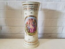 Vintage Possibly Antique Victoria Ware Vase with Woman and Cherub Decoration