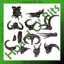 WARHAMMER 40K BIN BITS CHAOS SPACE MARINES SPAWN - 13x HEADS