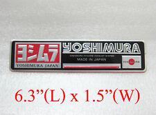 Aluminium Yoshimura japan plate emblem decal logo pipe bikes BODY EXHAUST ENDCAN