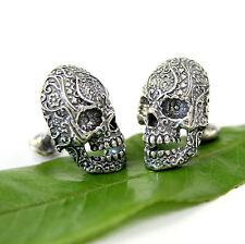 Silver Sugar Skull Cufflinks Day of the Dead  Cuff Links 145