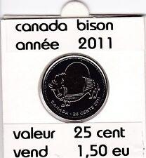 C1 )pieces de 25 cent bison   2011