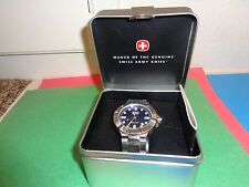 "Men's  WENGER-SWISS-MILITARY-200M/660 FT"" BLUE DIAL WRIST WATCH 79178"