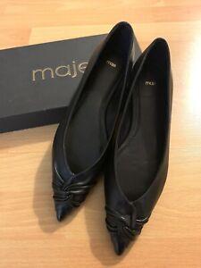 Maje Leather Flat Shoes Size 39