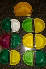 Lot of Prevue Pet Products Half Round Universal Plastic Hanging Cups Small Birds