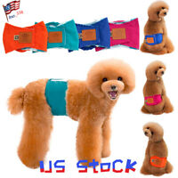 Washable Cotton Female Dog Diapers Sanitary Towel Underwear Napkins Pet Pants US