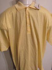 NWT Harry Vardon Golf Polo Mens Large Yellow Shortsleeve Shirt