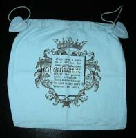 "JUICY COUTURE STORAGE DUST BAG BLUE DRAWSTRING HEART 12"" Shoe Purse Cyber Xmas"