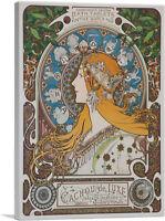 ARTCANVAS La Plume Zodiac 1896 Canvas Art Print by Alphonse Mucha
