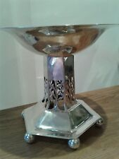 SOLID STERLING SILVER GUILD OF HANDICRAFT DISH ,COMPORT , CENTER PIECE 1904